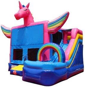 Astounding Unicorn Bounce House Combo With Water Slide Interior Design Ideas Gentotryabchikinfo